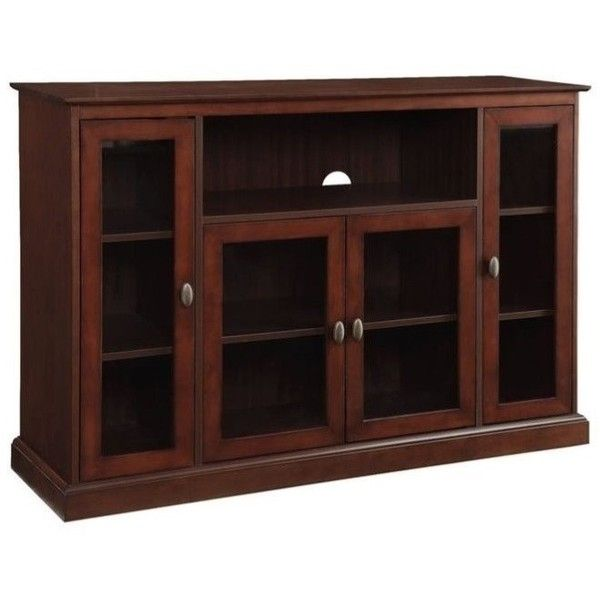 Convenience Concepts Designs2Go Summit Highboy TV Stand ($270) ❤ liked on Polyvore featuring home, furniture, storage & shelves, entertainment units, chocolate, convenience concepts tv stand, convenience concepts, convenience concepts furniture, espresso color furniture and shelf furniture