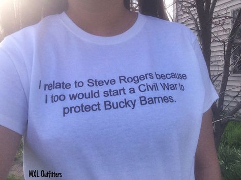 I relate to Steve Rogers/Protect Bucky Barnes T-Shirt   Captain America   Winter…