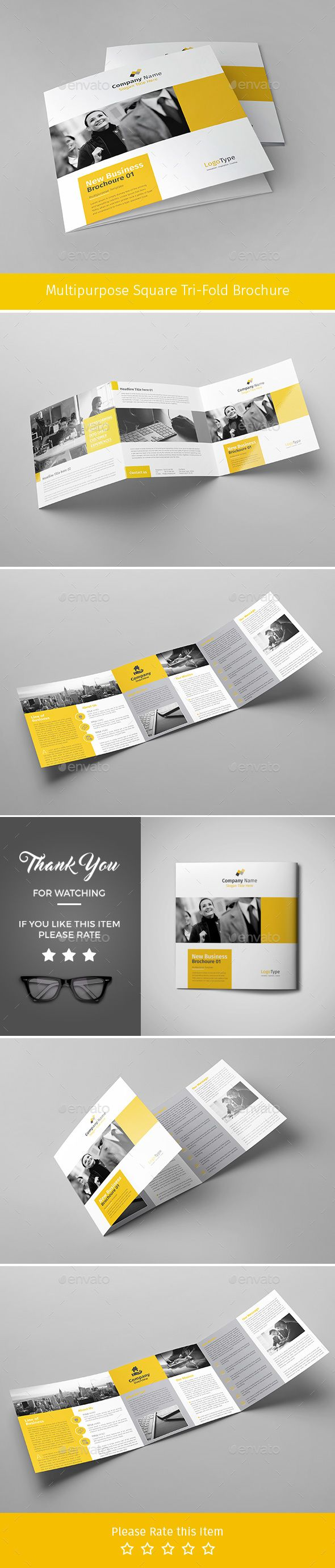 Corporate Tri-fold Square Brochure 02
