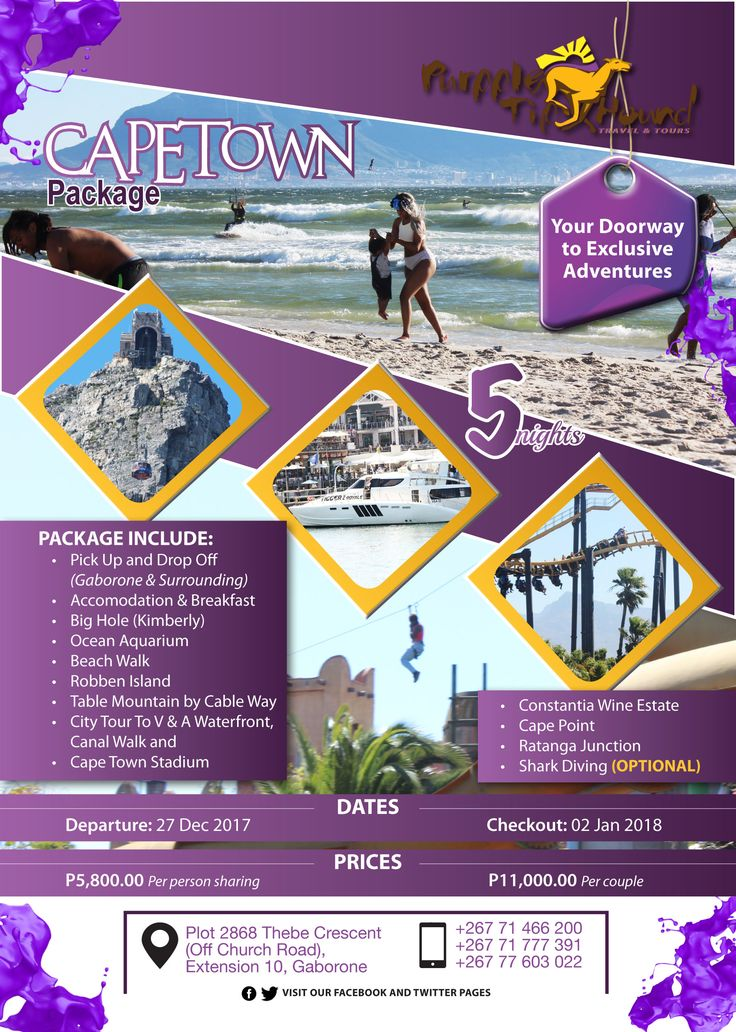 holiday package in Cape Town, South Africa.