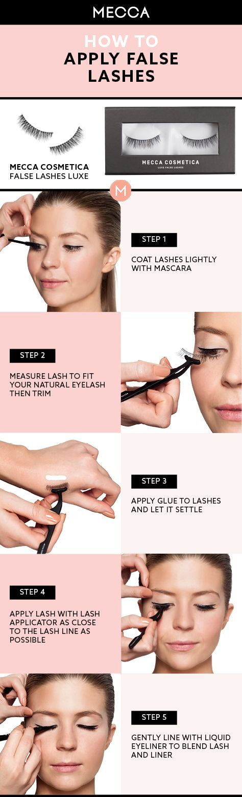 how to put on fake lashes tutorial
