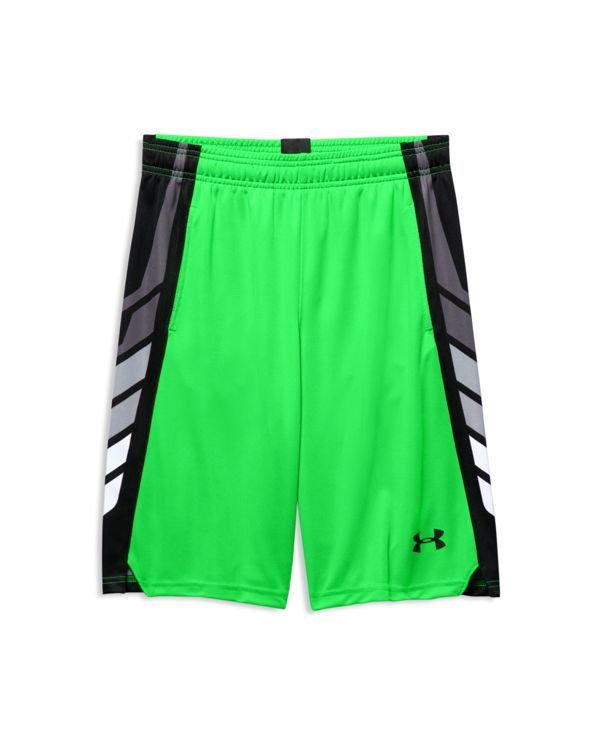 Under Armour Boys' Select Basketball Shorts - Sizes S-xl | Polyester | Machine wash | Imported | Fits true to size | Elasticized waist with logo patch at back and internal drawstring, mesh-lined hand