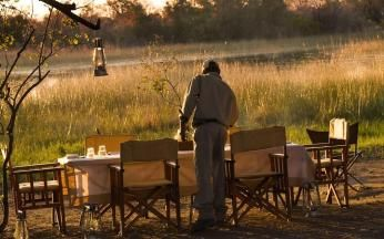 Klar til middag på Botswana ekspeditionen
