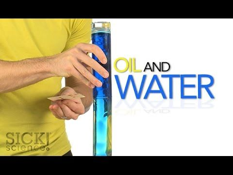 Oil and Water - Sick Science! - YouTube / #Magicflix #YouTube #Movie #Video #Kids #Toddlers #Science #Fun #Project