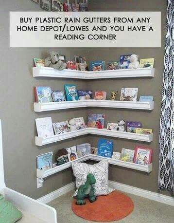 Great idea for child's room. Reading corner one day, picture frame holder another.