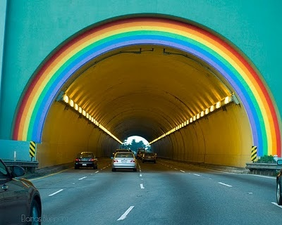 Follow the rainbow from San Francisco's Golden Gate Bridge into beautiful Marin County, California!