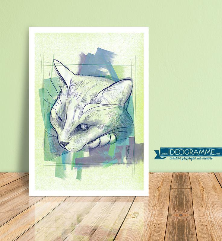 [ Mewwwoooooo ] Un fois n'est pas coutume, on m'a commandé un portrait de chat ! Et vous, vous y avez pensé à faire tirer le portrait de votre animal :) ?