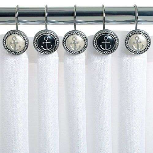Ayygiftideas Set of 12 European Mediterranean Style Nautical Anchor Shower Curtain Hooks #Ayygiftideas #European #Mediterranean #Style #Nautical #Anchor #Shower #Curtain #Hooks