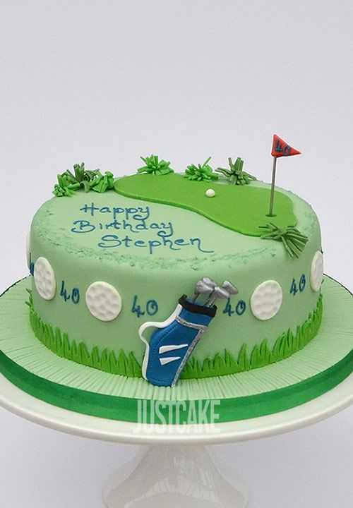 Golf Birthday Cake by Just Cake in Norfolk