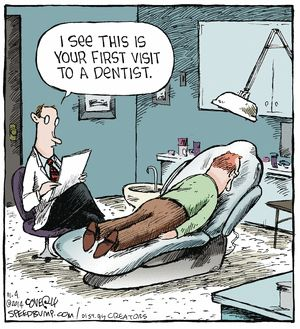 Speed Bump Comic Strip on GoComics.com | Dentist humor Pediatric Dentistry of Fredericksburg | #Fredericksburg | #VA | http://www.fredericksburgpediatricdentist.com/