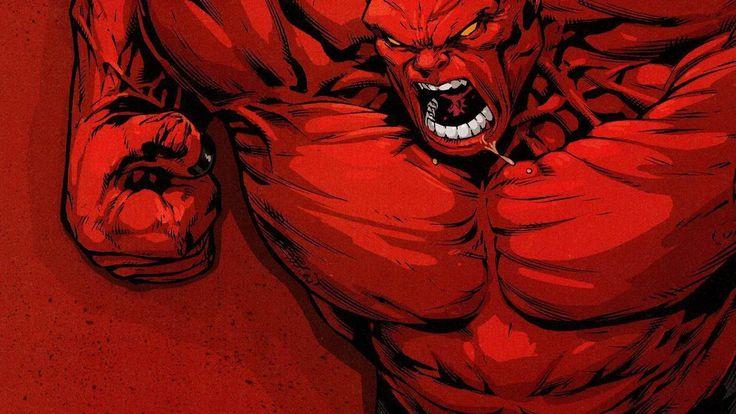 Комиксы Marvel искусства красный Халк обои