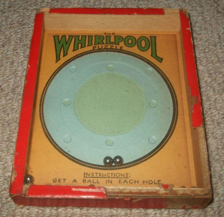 VINTAGE WHIRLPOOL DEXTERITY PUZZLE GAME - R. JOURNET