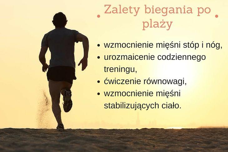 Plaża, morze, zachodzące słońce – kto z nas nie chciałby trenować w takich warunkach? Bieganie po plaży nie jest jednak proste. A czy jest zdrowe?