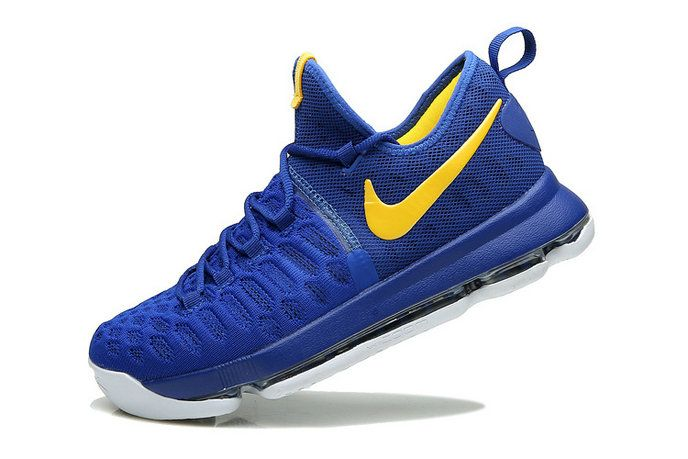Kevin Durant KD 9 IX Flyknit Warriors Away Royal Bright Yellow