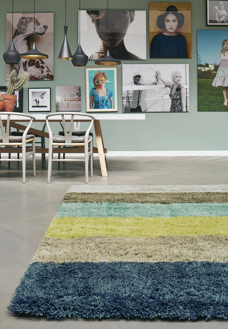 This six colour green themed Shaggy Rug is rather unique! Quite modern, simple but not too loud. If you like it, repin! <3 #CatwalkRugs