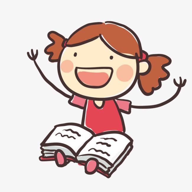 بنت صغيرة تقرأ كتاب Girl Reading Preschool Activities Art