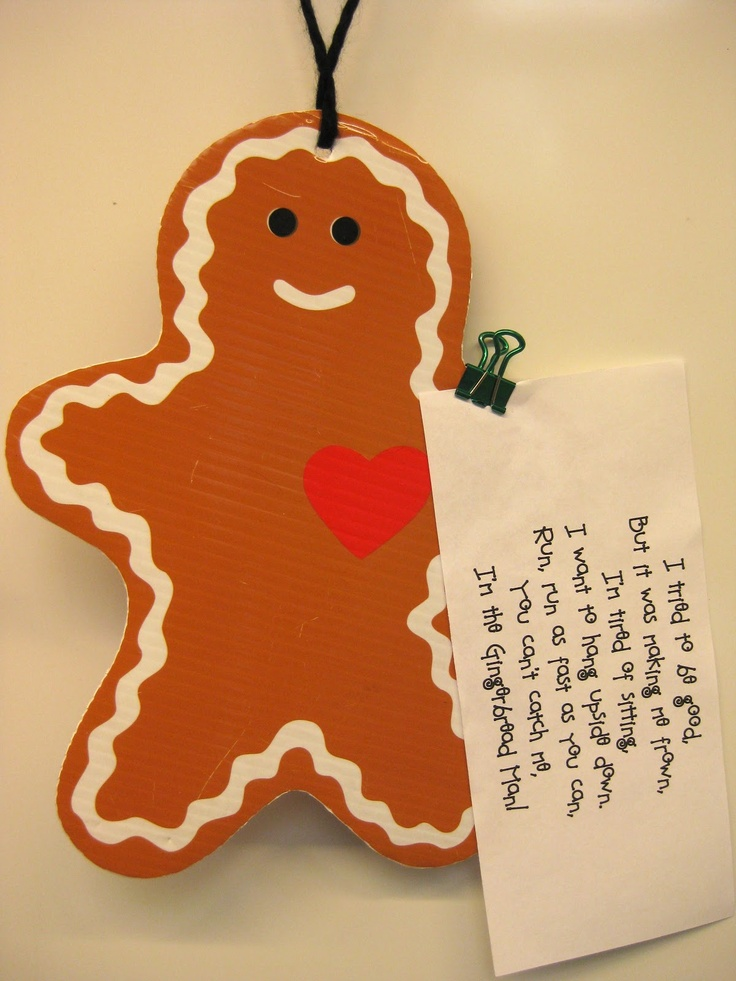 Leaving clues behind as our gingerbread man puppet escaped to ...