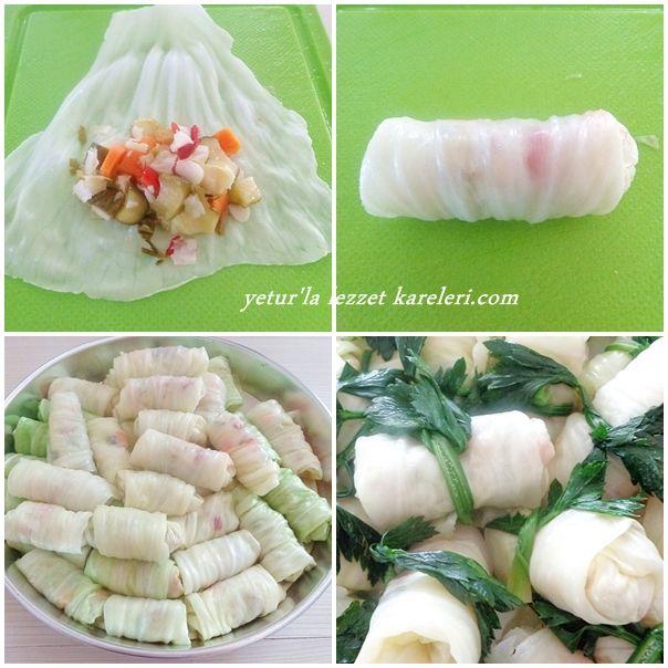 yetur'la lezzet kareleri: dolma lahana turşusu