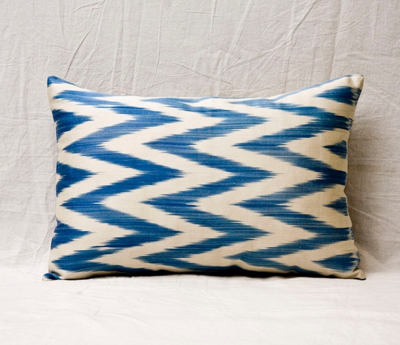 Navy Ikat Pillow