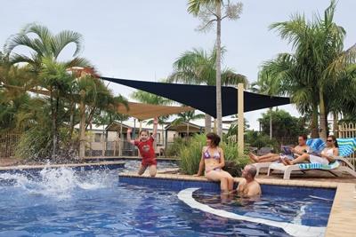 Resort Pool Fun at Fraser Lodge Holiday Park