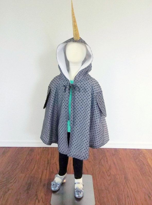 Narwhal costume, dress up clothes, kids cape, narwhal gift by ShopFlorette on Etsy