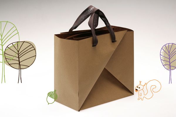 BIGABAGA.  Do-It-Yourself paper bag.    Made from recycled piece of paper. No glue.