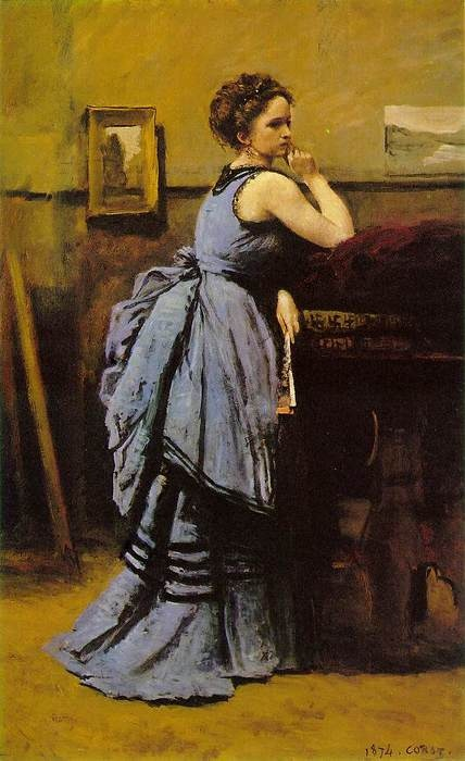 'Woman in Blue', by Jean-Baptiste-Camille Corot.  Art Experience NYC: www.artexperiencenyc.com