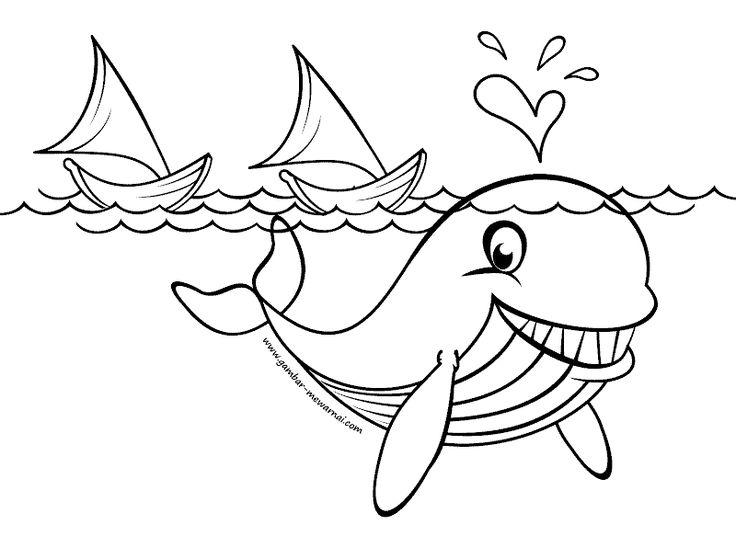 Mewarnai Gambar Ikan Paus