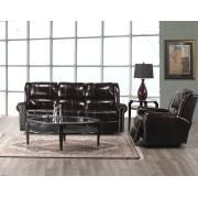 Elran 4004 Reclining Sofa and Chair in Cherry Brown with Studs Product Image
