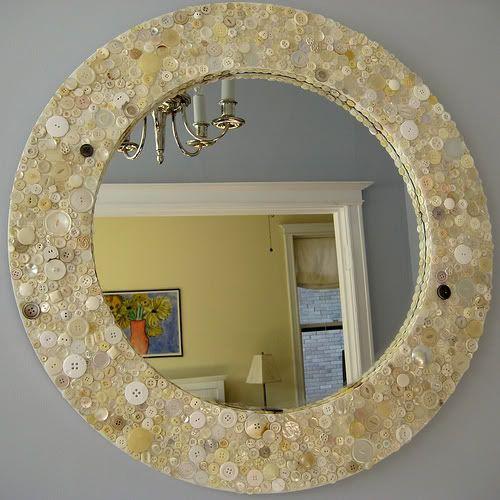 marco de espejo con botones