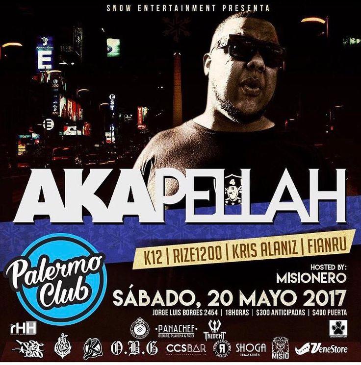 - BUENOS AIRES POR QUE UDS LO PIDIERON ANTICIPADAS V.I.P - ------------------ A K A P E L L A H @akapellahoficial  ------------------- - Unica presentación el proximo 20 de Mayo en palermo Club ademas presentaciones en vivo de >> - F I A N R U  @fianru  (FULL SET) - K 1 2  @elkiko12 (LIVE SET) - K R I S  A L A N I Z @krisalaniz1  (ORIGINAL SET) - R I Z E  1 2 0 0 @rize1200  (LIVE SET) - Hosted by el único  inigualable carismático M I S I O N E R O @misioflow RUIDOOOOO!! TE LO VAS A PERDER?…