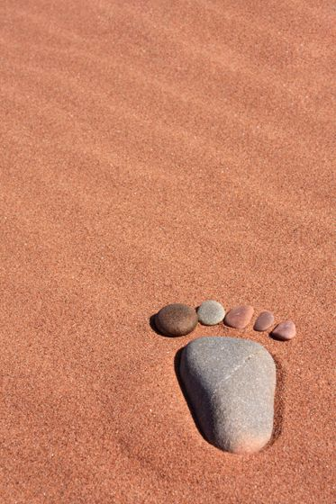 What better way to while away time on the beach than looking for the perfect foot shaped pebbles...It's harder than you think!