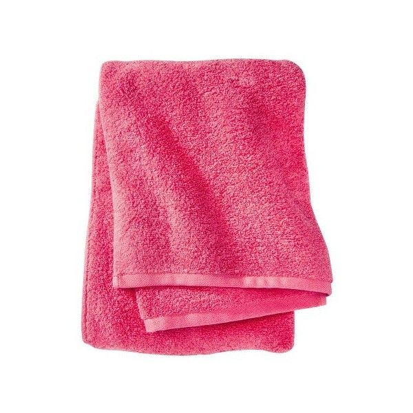 Fast Dry Bath Towel Ultra Coral ($3.99) ❤ liked on Polyvore featuring home, bed & bath, bath, bath towels, coral bath towels, room essentials, patterned bath towels and plush bath towels
