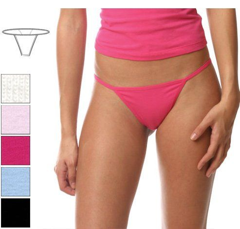 Women's Thong Combed Spandex Jersey
