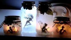 Verteile Kleber auf einem Glas und wälze es in Taschentüchern. Mehr Magie geht nicht.