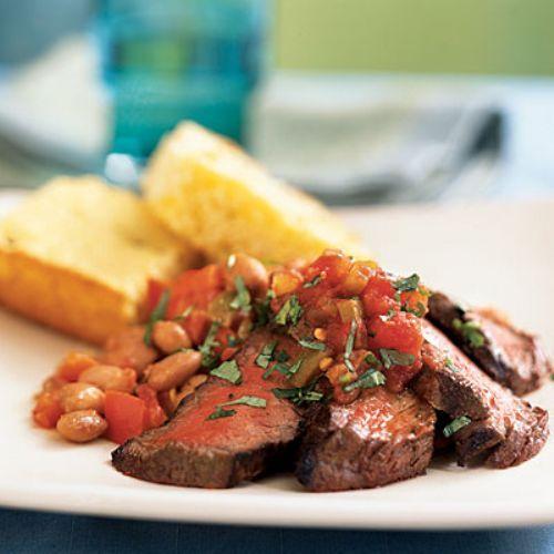 Tuscan Steak with Mediterranean Bean Salad Recipe