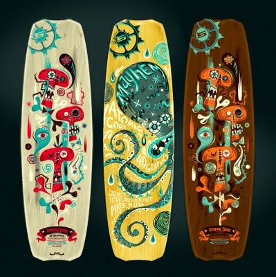 Slingshot Kite Boards by Alberto Cerriteño, an extraordinary mexican illustrator.