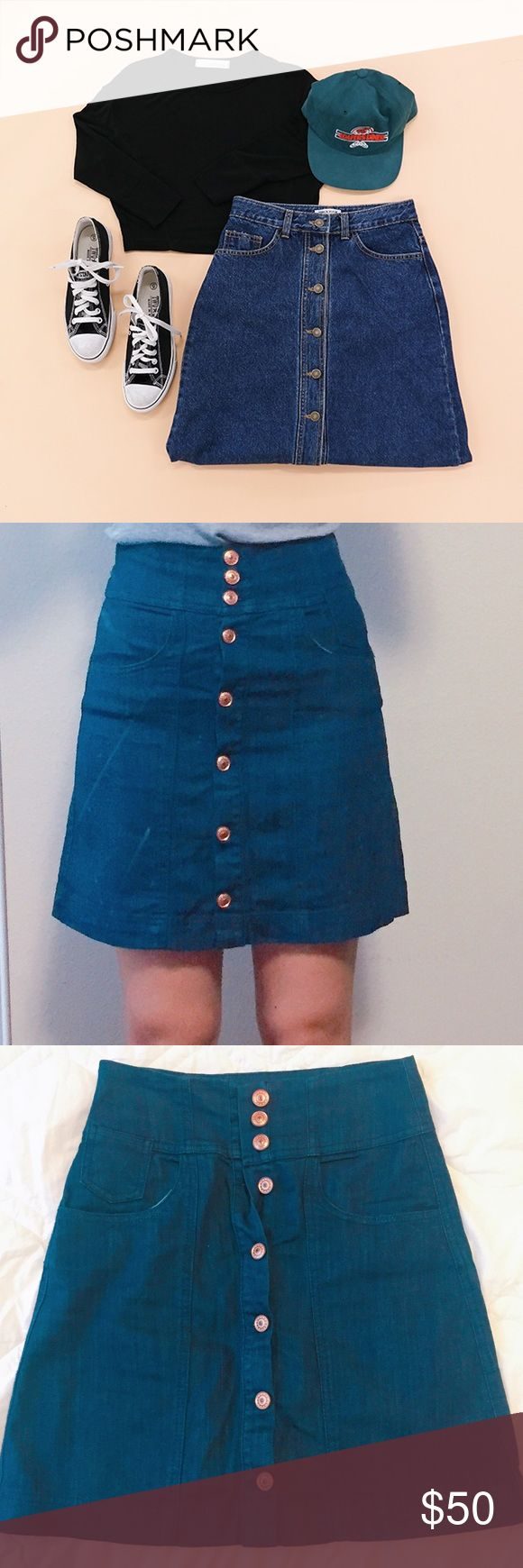 "NWOT Zara High waisted button up flare denim skirt NWOT Bershka denim button up flare skirt. Never worn,  excellent condition. High waisted. Denim with elastane blend, stretchy and comfy! Buttons on the front. A line flare fit. Total length: 18"", waist: 26"", hip: 34"". Edge of the skirt:  40"". PRICE FIRM. It's from Bershka, Zara's company. Feel free to ask any questions if you have. Thank you  Zara Skirts A-Line or Full"