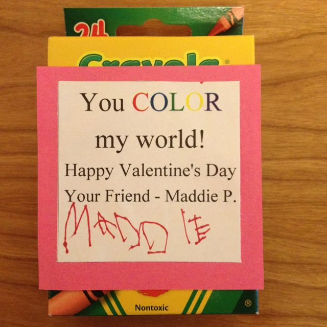 """""""You COLOR my world"""" valentine"""