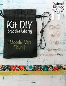 Apprenez à fabriquer un bracelet #liberty de couleur vert-pomme avec ce nouveau kit #diy.