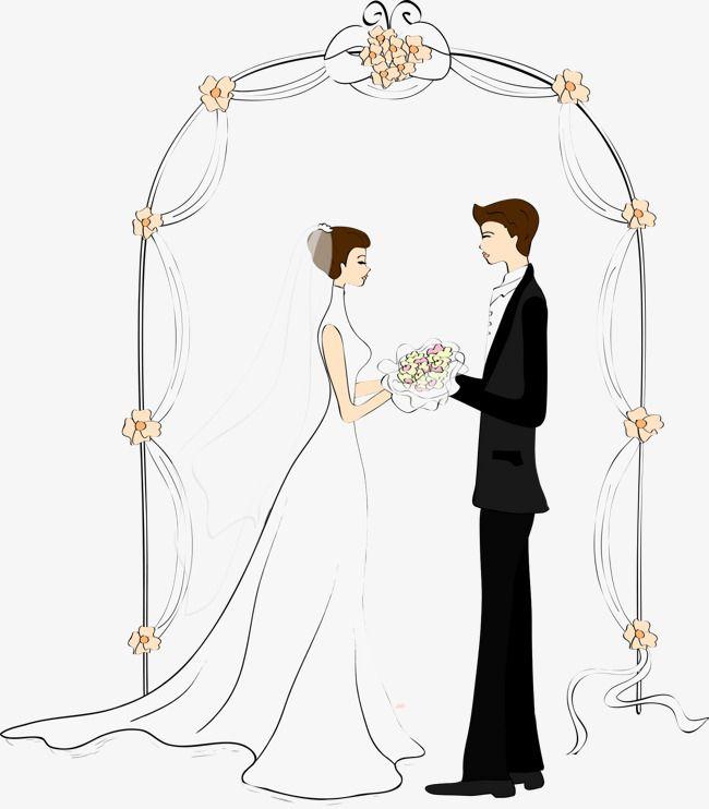 الأقواس زوجين الكرتون العروس توضيح شخصية ناقلات Png وملف Psd للتحميل مجانا People Illustration Couple Cartoon Bride Clipart