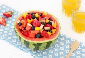 Gevulde meloen met fruitsalade – FOOD