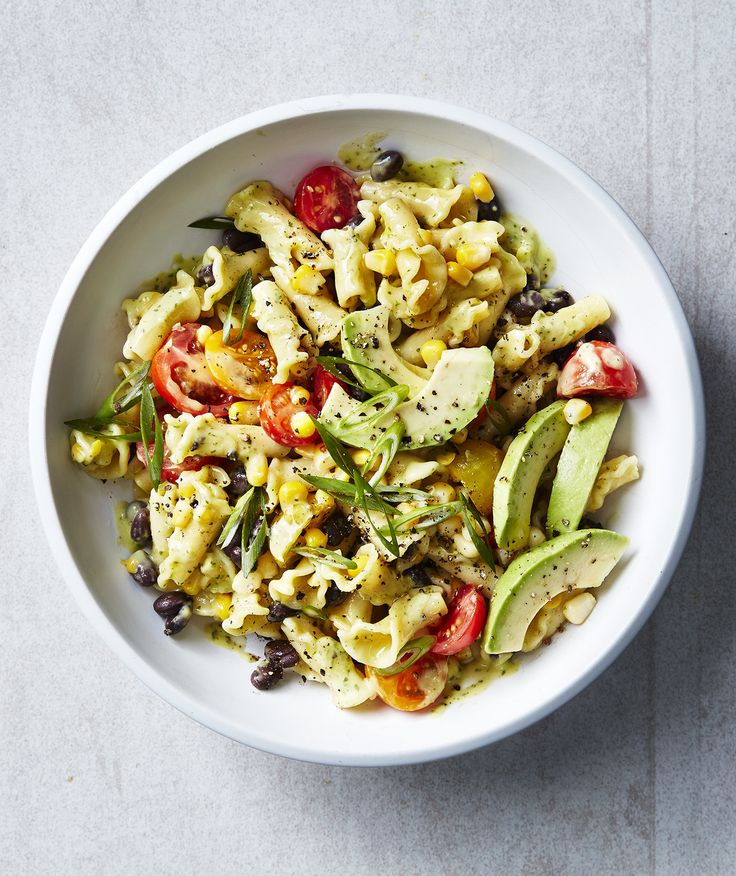Southwestern Pasta Salad | Say goodbye to gloopy mayonnaise-covered pasta salads. We put an avocado to work to create an irresistibly creamy dressing, that won't have any of the mayonnaise-haters running for the dusky hills. The only drawback is that the dressing will oxidize after a little while and go gray. Don't worry, the salad will be no less delicious, but plan on serving this within an hour or two of making it. For a little heat, add thinly sliced fresh jalapeños or even some drained…