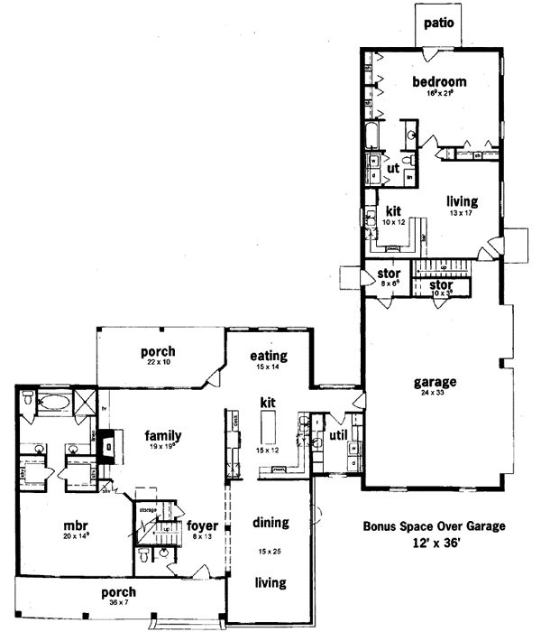 Floor plans with separate inlaw quarters for House plans with detached mother in law suite