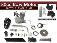 80cc Raw Motor Bicycle Engine Kit | Gasbike.net