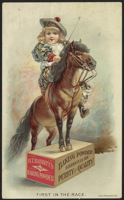 First in the race. B. T. Babbitt's best baking powder [front] by Boston Public Library, via Flickr