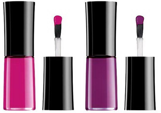 Giorgio Armani Fuchsia Maharajah Makeup Collection Spring 2015 /  Лак для ногтей Giorgio Armani Nail Lacquer /511 Pink Blush – интенсивный розовый; 512 Maharajah – насыщенная фуксия; 604 Garconne Fatale – темно-фиолетовый;