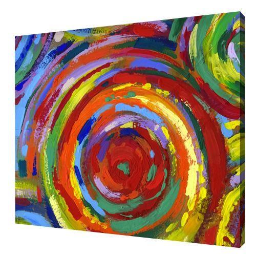 Schilderij kleurrijke cirkel