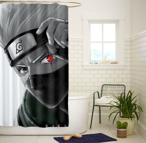 Best Hatake Kakashi Sharingan High Quality Bathroom Shower Curtain 60x72 Inch #Unbranded #Modern
