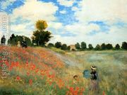 Poppies At Argenteuil by Claude Oscar Monet